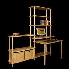 bibliothèque avec bureau intégré meuble bibliotheque bureau integre kirafes