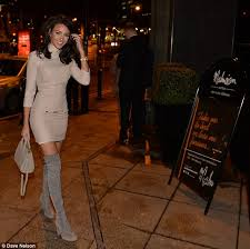michelle keegan is stunning in thigh high boots daily mail online