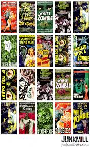 zombies digital printable collage sheet cult classic horror
