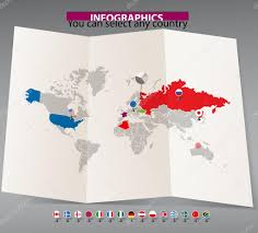 world map on old map and flags of different countries u2014 stock