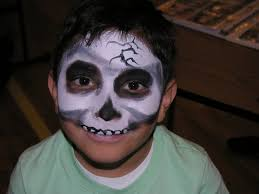 skeleton face paint halloween zombie face paint the painted otter