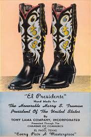 s boots cowboy el presidente cowboy boots made for president harry s
