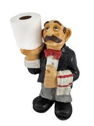 amazon com funny waiter toilet paper roll holder butler home