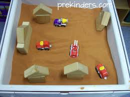 Sand Table Ideas Sensory Table Transportation Prekinders
