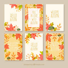 free cards autumn cards collection vector free