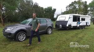 land rover mitsubishi tow test land rover discovery sport www caravancampingsales com au
