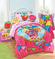 shopkins kids 5 piece bed in a bag twin bedding set reversible