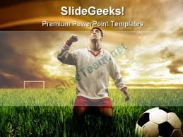 soccer player sports powerpoint template 0910 powerpoint