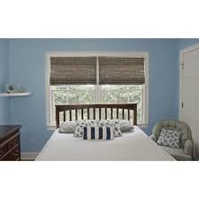 Flat Roman Shades - home decorators collection driftwood flat weave bamboo roman shade