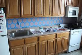 how to paint a geometric tile kitchen backsplash