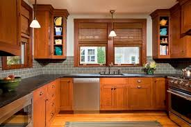 craftsman bungalow for a craftsman kitchen with a bar area and