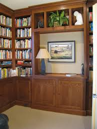 custom built home library in cheery wood a case study
