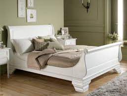 Royal Wooden Beds Bordeaux French Style White Wooden Sleigh Bed Master Bedroom