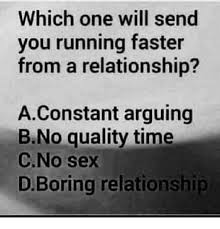 No Sex Meme - which one will send you running faster from a relationship