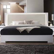 bed frame with lights beds with headboard lights wayfair