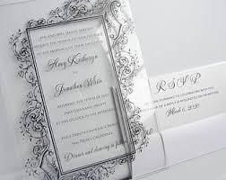 acrylic wedding invitations acrylic invitation etsy