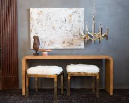 burl wood console table burl wood waterfall console table south loop loft