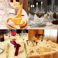 online shop ourwarm 100pcs wedding table napkins knitted table