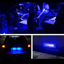 11x blue interior led package kit dome map lamp plate for nissan