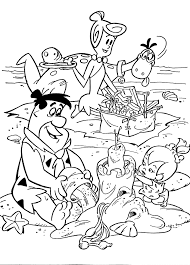 flintstones printable coloring pages for kids download free