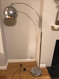 Curved Floor Lamp Silver Curved Dome Floor Lamp In Fantastic Condition 60 New