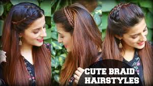 easy indian hairstyles for school 3 cute easy everyday headband braid hairstyles for school college