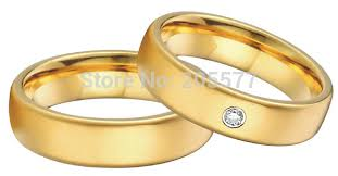 s plain wedding bands 10 year anniversary gift classic gold plating and s
