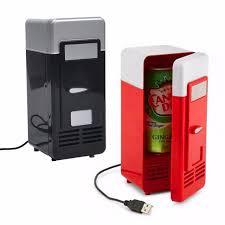 gadget bureau mini usb réfrigérateur bureau cooler canettes de boissons cooler