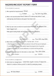 incident hazard report form template incident hazard report form template unique 7 sle incident