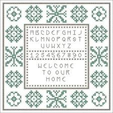 free welcome sler cross stitch pattern connie gee designs