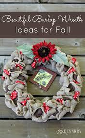 burlap wreaths 3 beautiful diy craft ideas