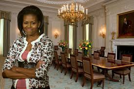 michelle obama unveils revamped white house dining room curbed dc