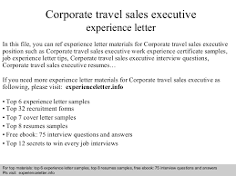 Sales Executive Resume Sample Download by Corporatetravelsalesexecutiveexperienceletter 140828101544 Phpapp02 Thumbnail 4 Jpg Cb U003d1409220968