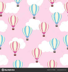 seamless background of baby shower illustration with cute air