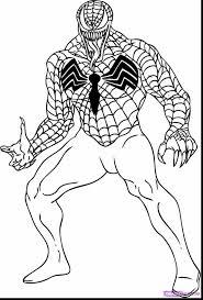 superb spider man venom coloring pages spiderman color