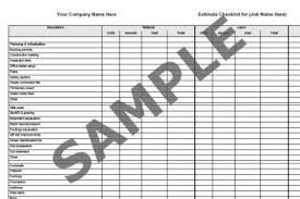Take Sheet Template 9 Best Images Of Free Printable Electrical Material List