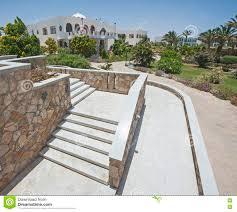 outdoor steps on raised patio area stock photo image 74721521