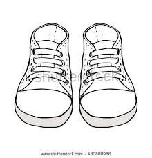 sketch illustration kids shoes isolated on stock vector 480800986