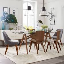 Dining Room Glass Table Sets Mid Century Dining Chair West Elm