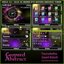 clock themes for android mobile leopard abstract clock theme for nokia c3 x2 01 themereflex