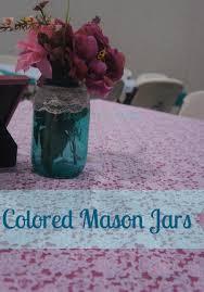 Mason Jar Centerpiece Ideas Diy Colored Mason Jars Country Wedding Centerpiece Ideas Rays