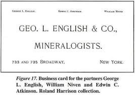 yale business card academic onefile document early mineral dealers william niven