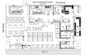 kitchen pretty restaurant open kitchen floor plan plans label