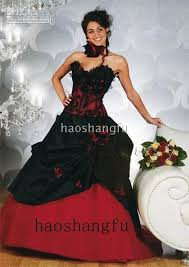 red and black corset wedding dresses high cut wedding dresses