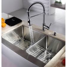 16 Gauge Kitchen Sink by Kraus Khf203 33 33 Inch Farmhouse Apron 70 30 Double Bowl 16 Gauge