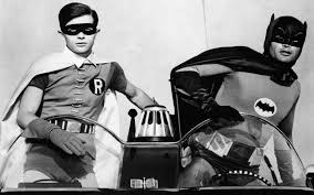 60 s tv shows adam west and burt ward as batman and robin in the 1960s tv show