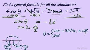 when solving trigonometric equations you solve it as if it is a normal equation your goal is to isolate the trig function once you isolate the trig