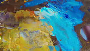 trip over paint palette close up stock footage video 4060351