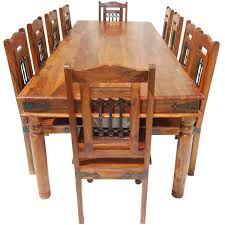 furniture solid wood large dining room table chair set