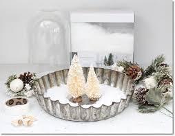 Photo Tree Centerpiece by Diy Pie Tin And Bottle Brush Tree Centerpiece Hometalk